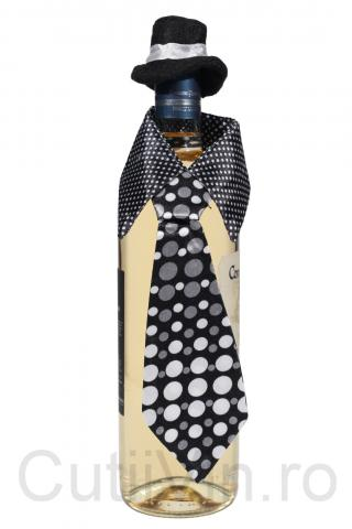 Cravata gentlemen sticla vin