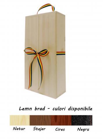Cutie lemn twin cu doua usi