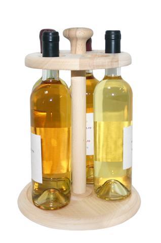 Suport lemn 5 sticle vin