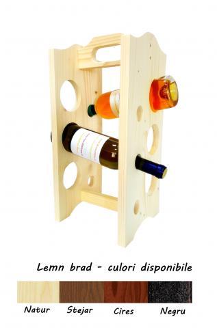 Suport lemn Primus 6 sticle vin