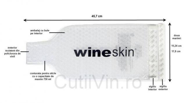 Wineskin standard cu maner