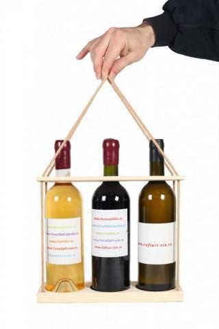 Suport sticle vin TRIO